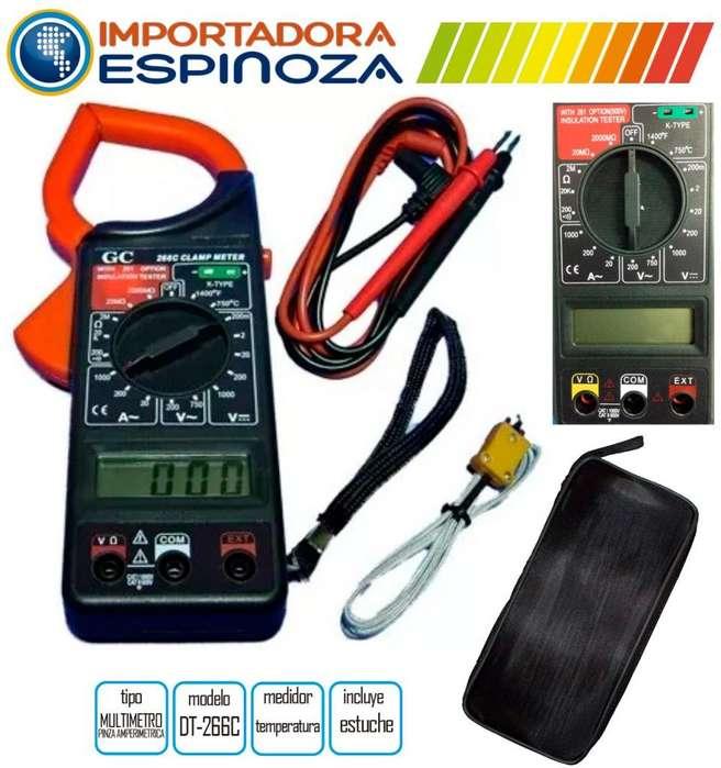 Multimetro Pinza Amperimetrica Digital Medidor Temperatura