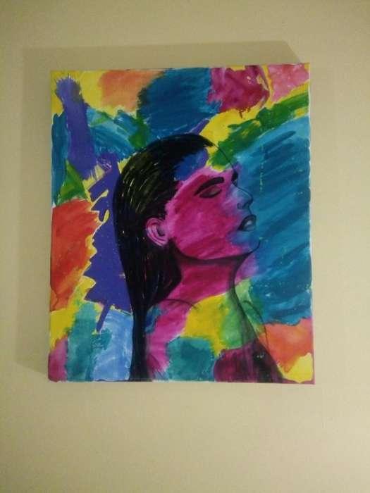 Cuadro pintado con acrílico