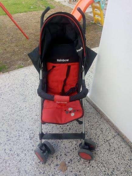Cochecito para transportar un bebé, plegable Rainbow impecable