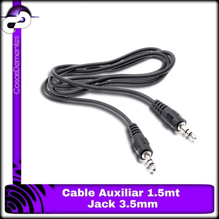 Cable Auxiliar. 3.5 a 3.5 Stereo. 1.5m