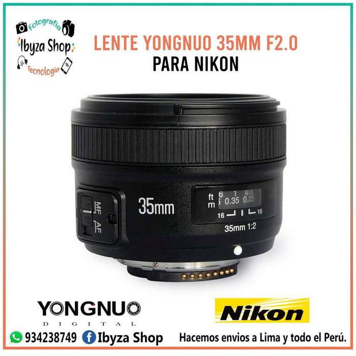 Lente Yongnuo 35mm F2.0 Para Nikon Automático/manual Tienda Oficina