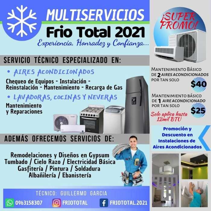 Aires-Electricidad. Lavadoras-Tumbao-Cocinas(Mantenimientos) Contacto 0963158307