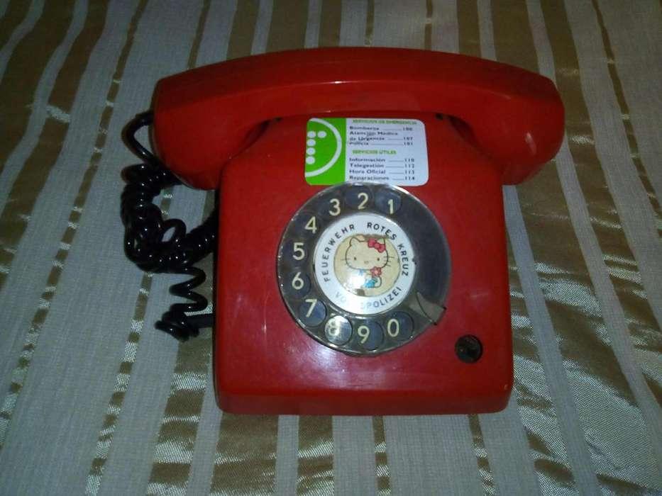 Telefono antiguo a disco