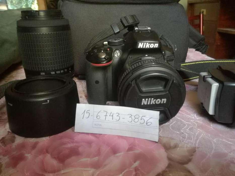 Nikon D 5300 combo con 2 lentes , bolso ,tarjeta y tripode