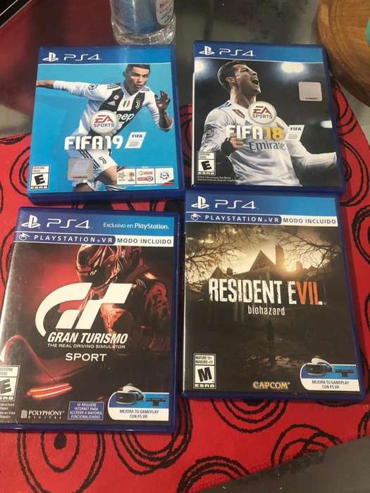 FIFA 18, FIFA 19, RESIDENT EVIL Y GT SPORT PS4 LOTE
