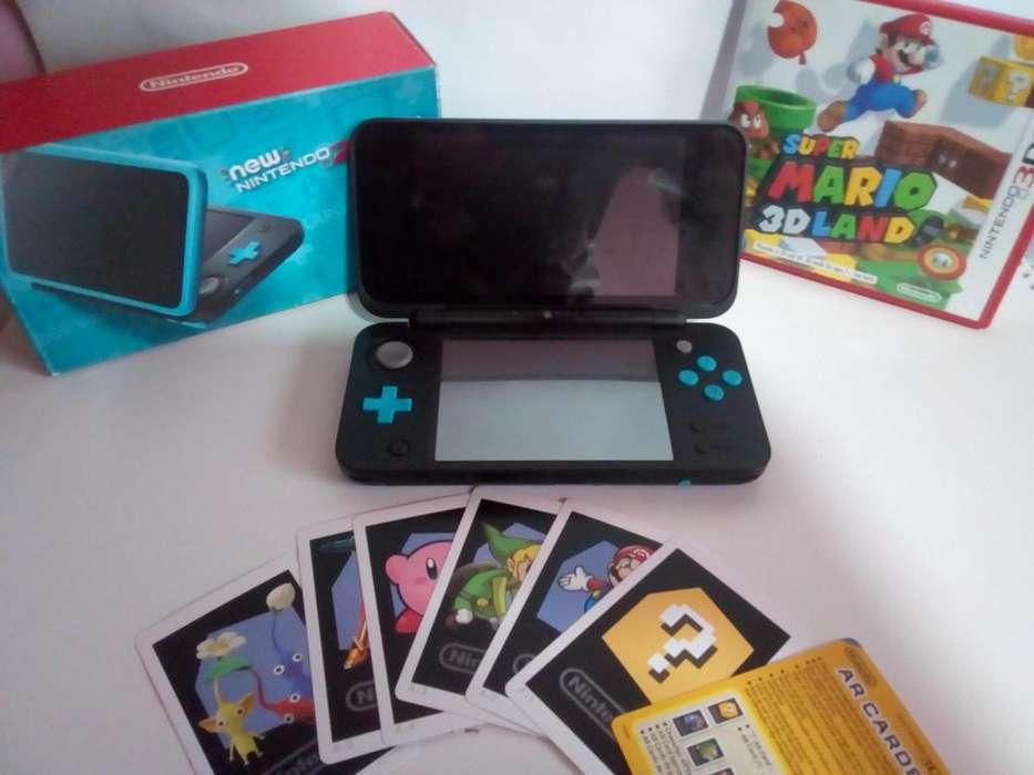 New Nintendo 2DS XLNegro Azul Turquesa