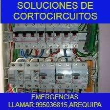 ELECTRICISTA DOMESTICO E INDUSTRIAL A TODO AREQUIPA.CEL:995036815.CERTIFICACIONES,SOLUCIÓN DE FALLAS ELÉCTRICAS.