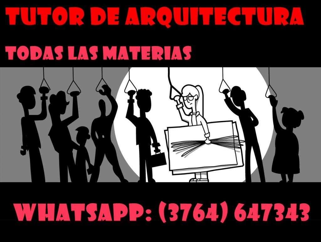 Tutor para estudiantes de ARQUITECTURA 3764 647343