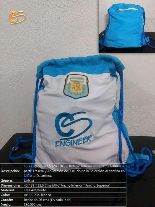Tula Selección Argentina Color Blanco, Azul