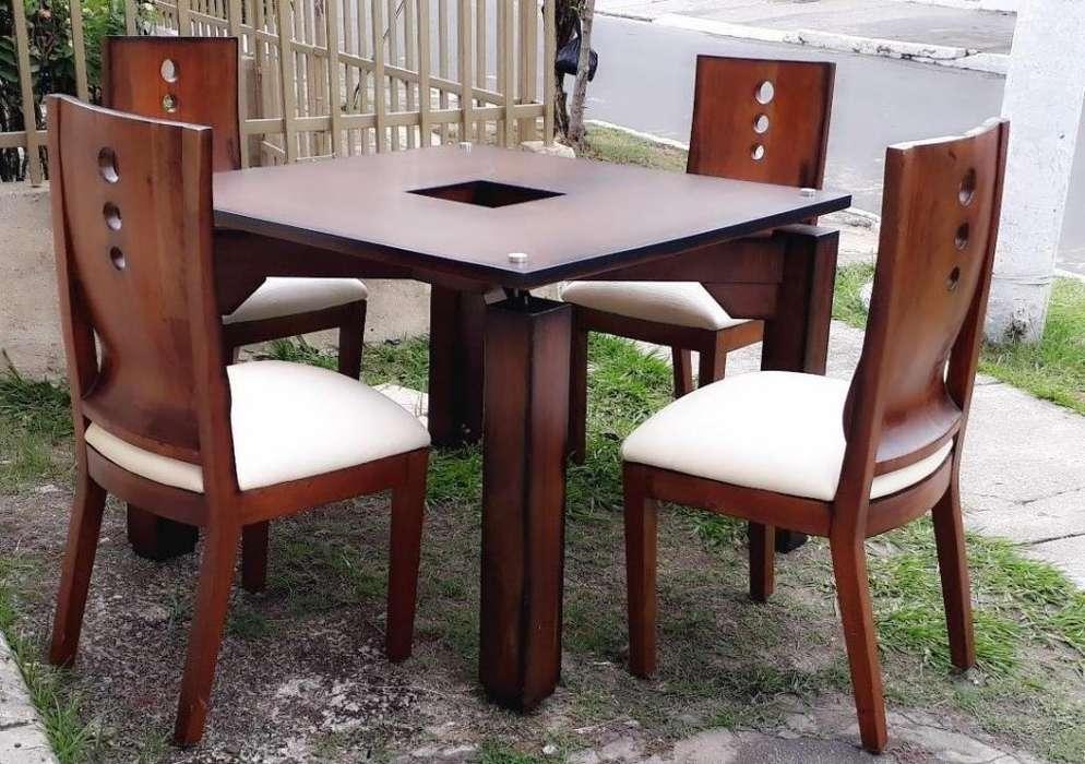 Combo Comedor: Comedor con mesa de sala, <strong>silla</strong>s butaco y mesa auxiliar