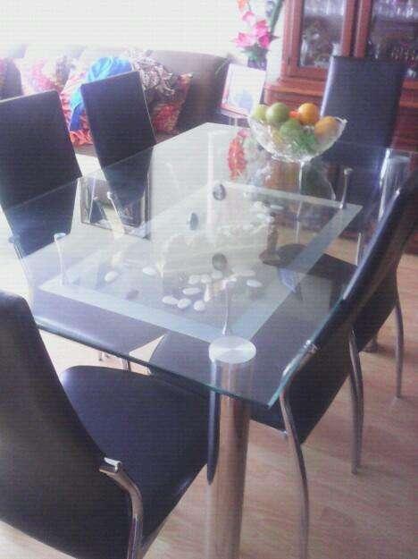 Comedor de 6 Puestos en Vidrio