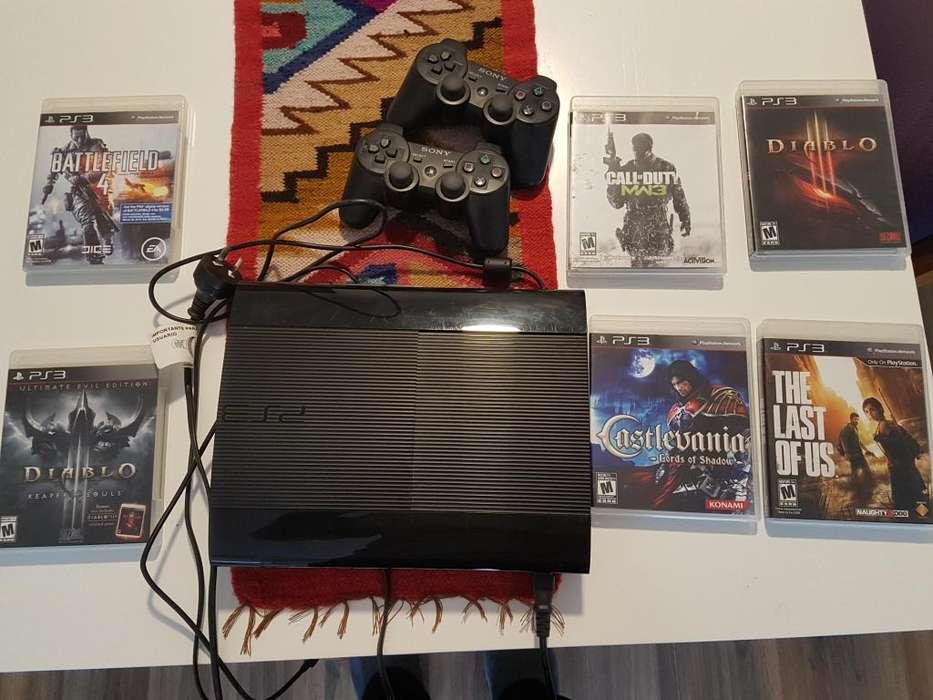 Play Station 3 12 gb 2 Josticks 6 Juegos originales