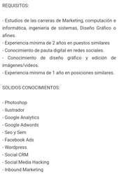 Marketing - Solicito Profesional
