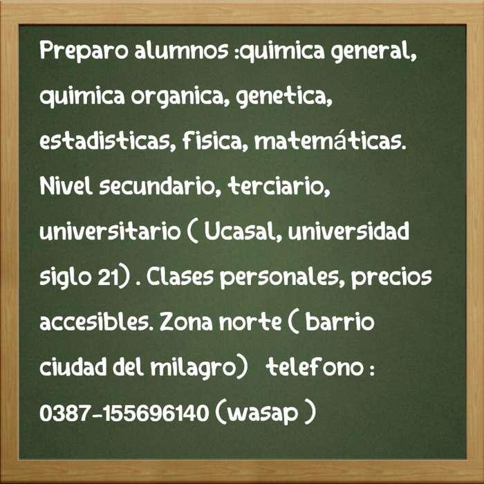 Clases de Matematicas Quimica Genetica