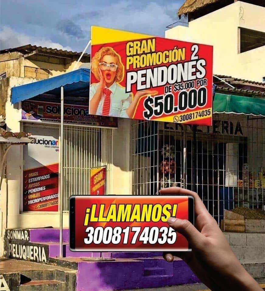 Pendones en Cartagena Bolivar