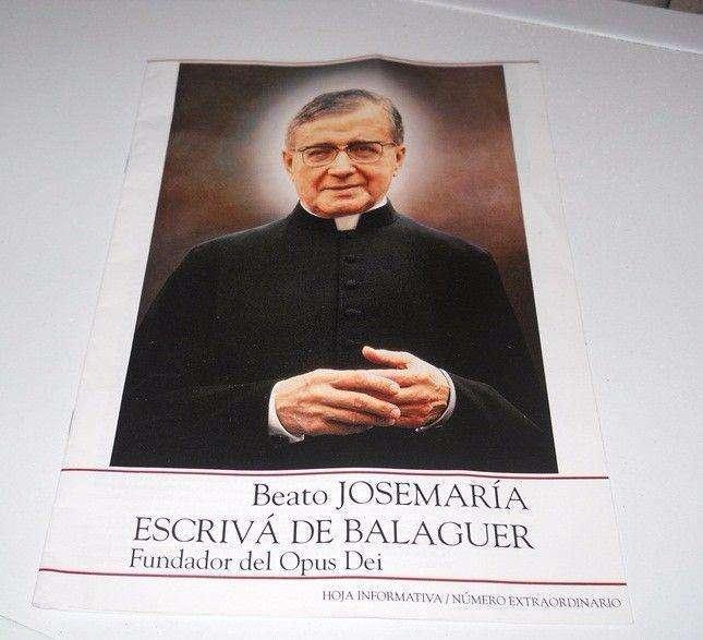 Hoja Edición Extraordinaria Opus Dei Beato JoseMaría Escrivá De Balaguer año 1992