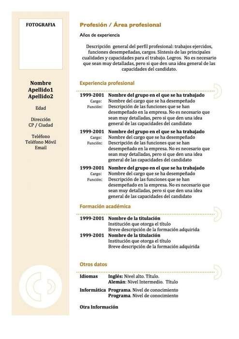 REDACCION Y DIAGRAMACION DE CURRÍCULUM VITAE
