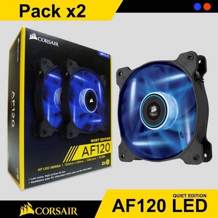 Ventilador Chasis Corsair Air Series Af120 Led Alto Flujo