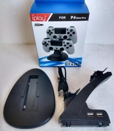 base soporte cargador para mandos palancas de ps4 play 4