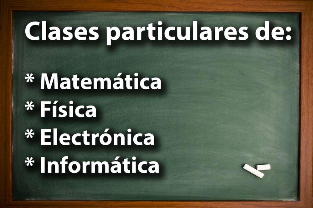 Clases particulares, apoyo académico y escolar; Matemática, Física, Electrónica, Informática, Programación en C