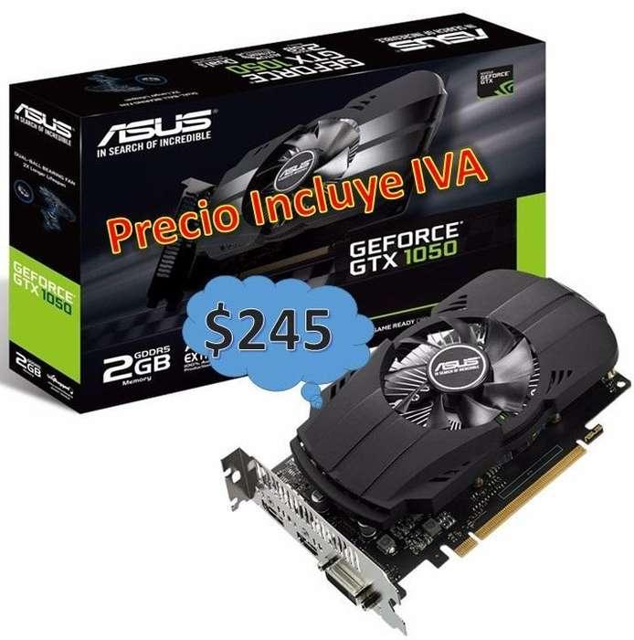 Tarjeta De Video Nvidia Geforce GTX 1050 2gb y GTX 1050Ti 4gb PRECIO INCLUYE IVA