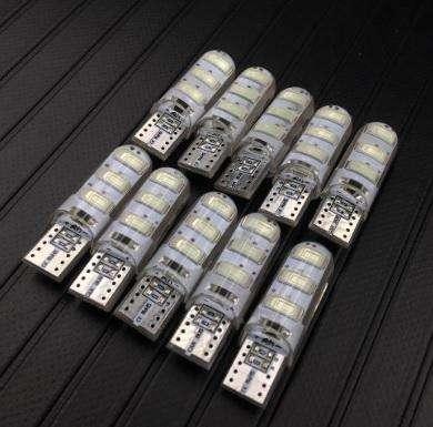 Bombillo T10 siliconado blanco luz cocuyo farola