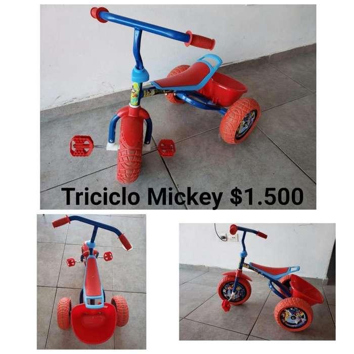Hermoso triciclo Mickey liquido