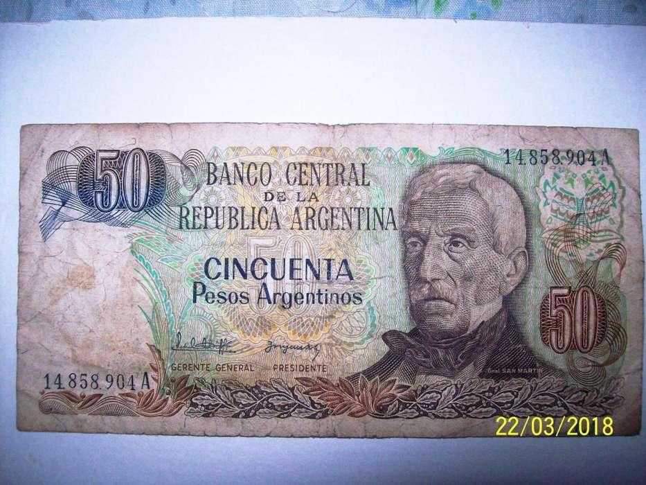 Billete de 50 Pesos Argentinos 19831987