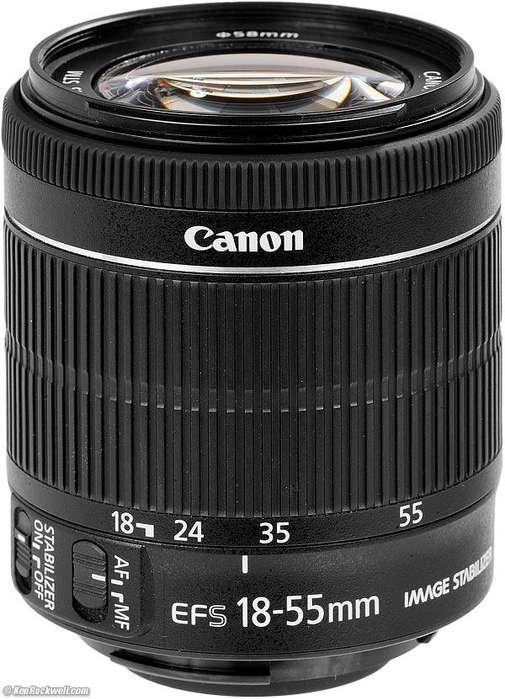 Lente Canon 1855mm f/3.55.6 NUEVO!