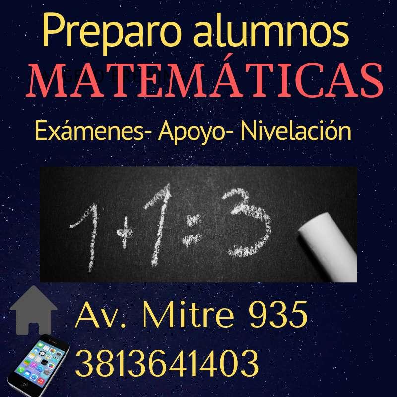 Matemáticas- Preparo alumnos