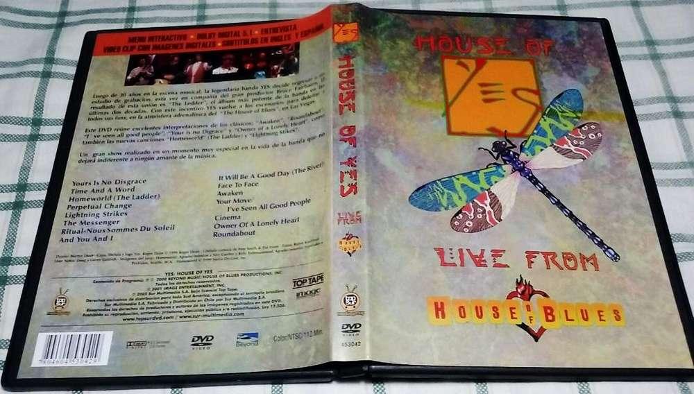 YES House of YES Grabado en Vivo en The House of Blues en Las vegas en 1999. Importado. Made in Argentina