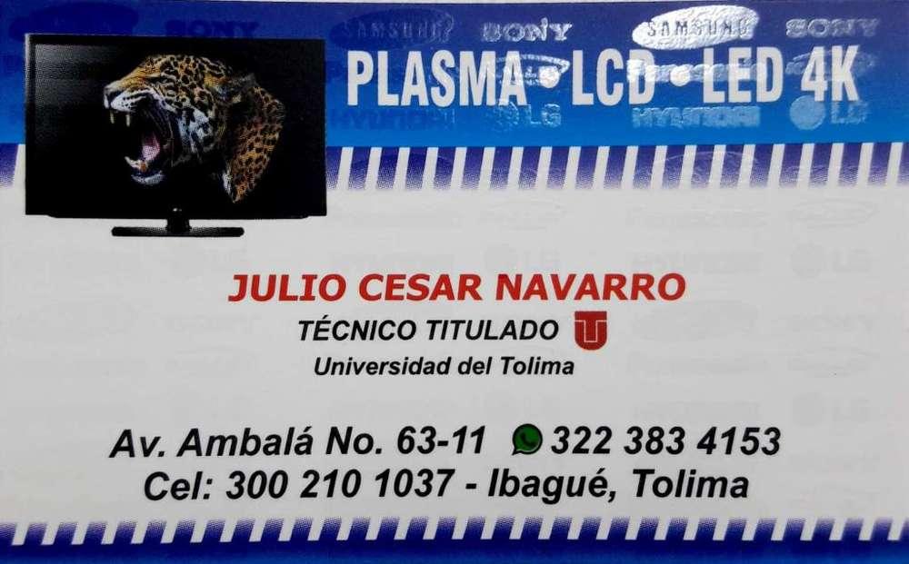 REPARACION DE TELEVISORES LED Y PLASMA Y 4K