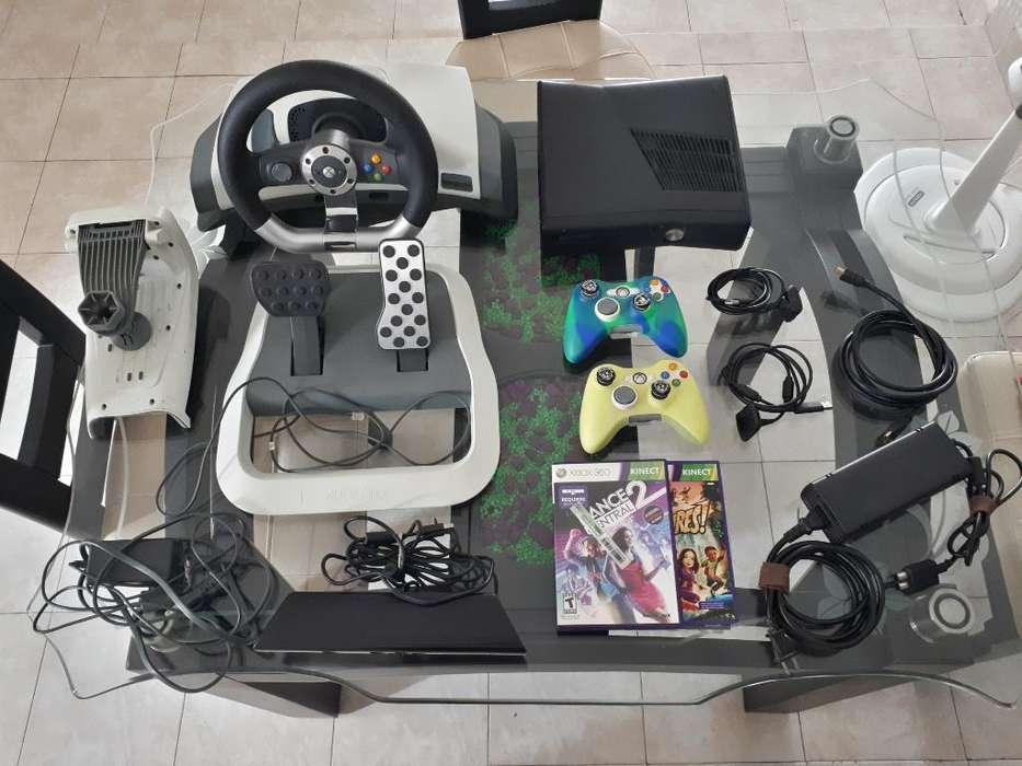 Vendo Xbox 360 Slim Dd320gb Y Accesorios