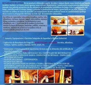 PINTURA IGNIFUGA- BARNIZ IGNIFUGO - LIQUIDO IGNIFUGO RETARDANTE DE FUEGO 990206664/ 998280609