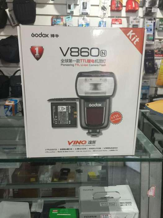 Flash Godox V860 para CANON TTL, 1/8000, Bateria Liion 2000mAh,