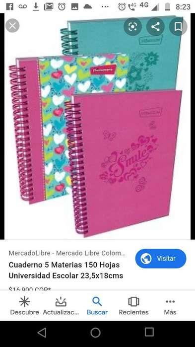 Cuadernos 5 Materias a Buen Precio