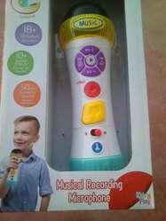 Microfono c/grabadora, 20 tonos, linterna
