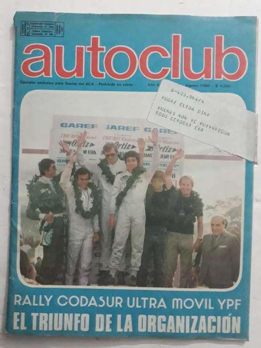 Revista Autoclub 108 Año 1980