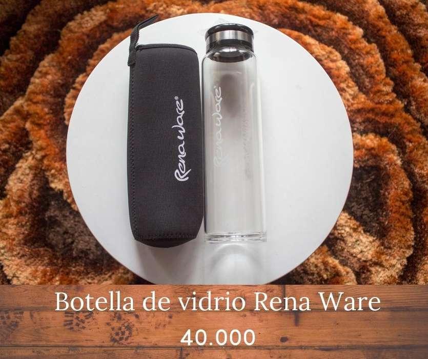 BOTELLA RENAWARE DE VIDRIO NUEVA