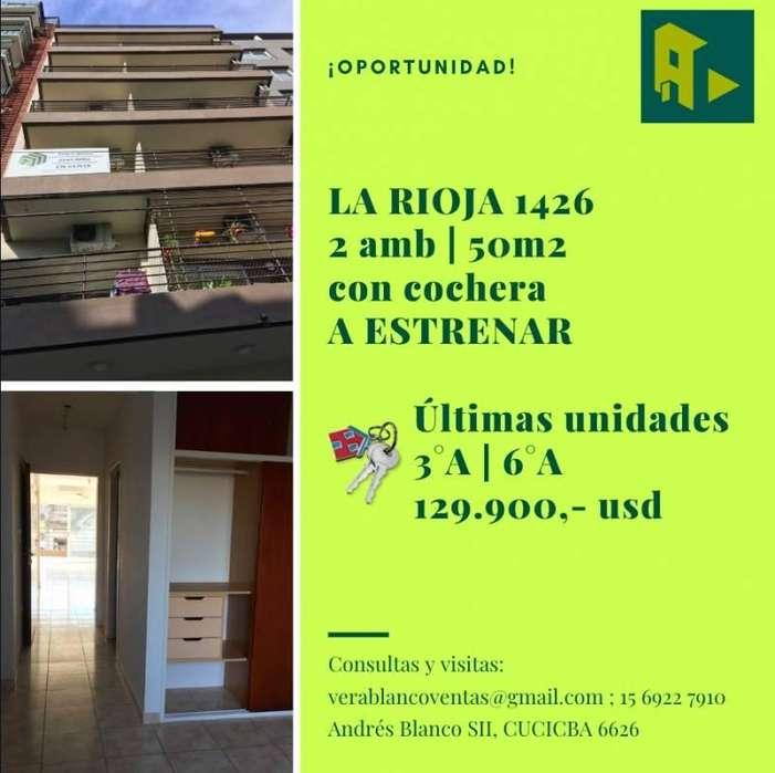 Venta 2 Ambientes 50m2 c/ Coch. a Estrenar San Cristobal