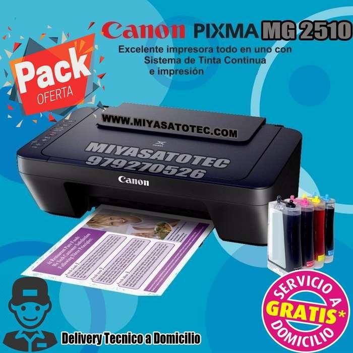 multifuncional <strong>impresora</strong> canon pixma mg2510 sistema continuo de tinta