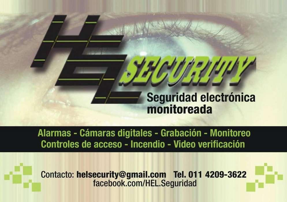 Seguridad electrónica, alarmas, cámaras, monitoreo, cctv Hel Security.