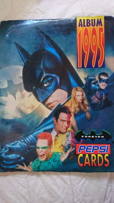 ANTIGUO ÁLBUM DE BATMAN PESI CARDS DE 1995