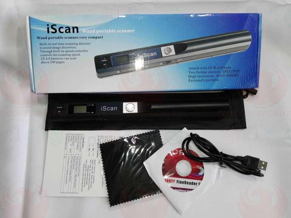 Escaner De Documentos E Imagenes Iscan 900dpi Usb ideal para llevar portabilidad