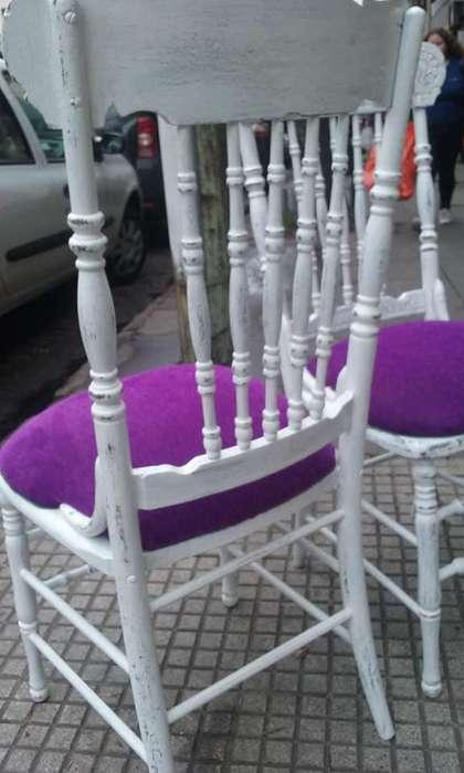 2 hermosas <strong>silla</strong>s muy antiguas y restauradas