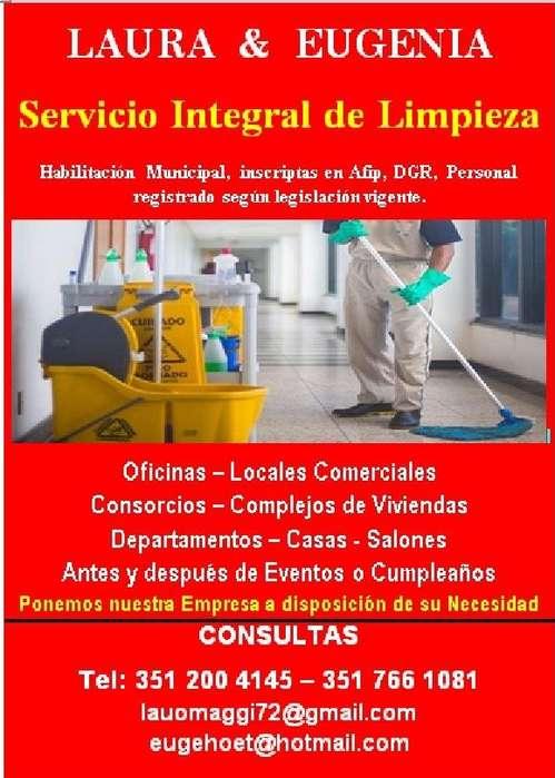 EMPRESA INTEGRAL DE LIMPIEZA cel: 3512004145