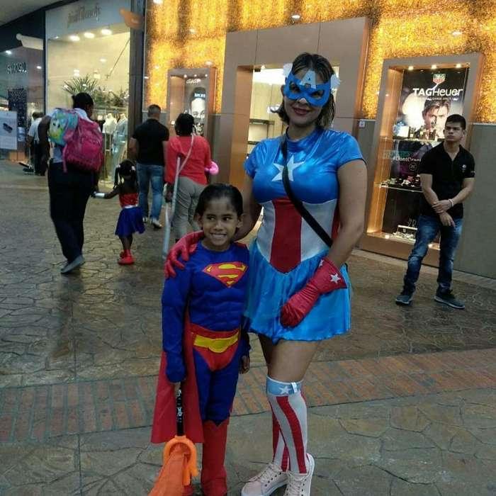 Disfraz Super Man Cap America