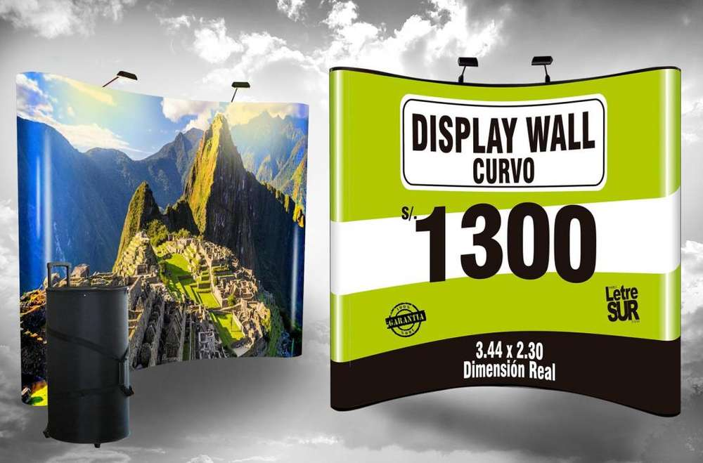 DISPLAY WALL CURVO - BACKING