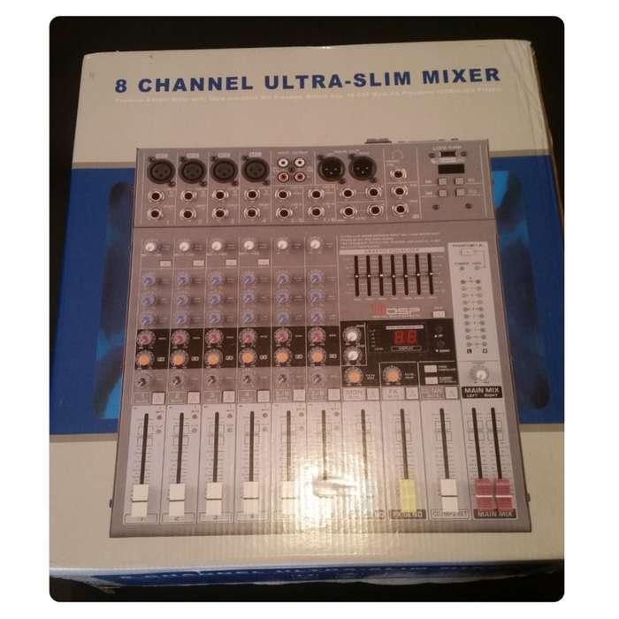 GRATIS!!! Consola Profesional 8 Canales England Audio