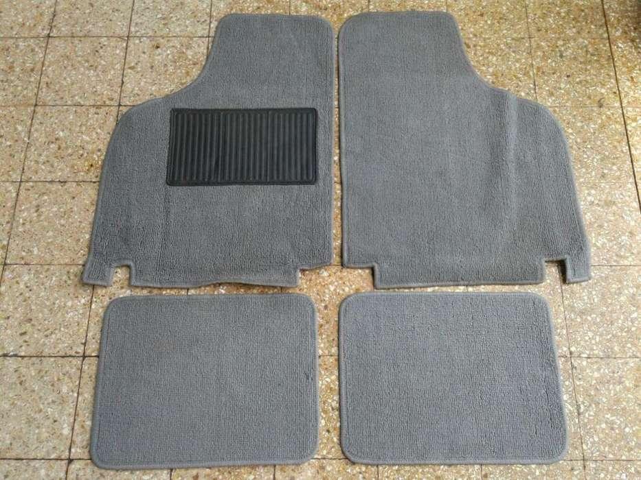 Cubre alfombra Fiat 600 boucle gris completo 4 piezas